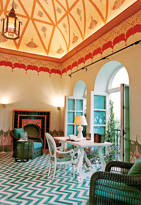 Stunning paint work in this home.  Image from fashion telegraph.com.uk