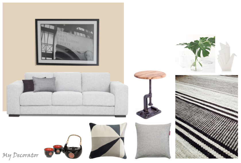 Digital Moodboard created by My Decorator showing recommendations to client.