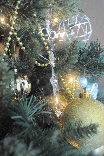 Lights purposefully illuminating decorations